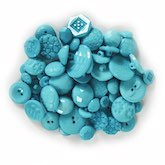 Assorted Buttons Turquoise 3 oz.