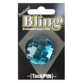 Bling Small Teal Round