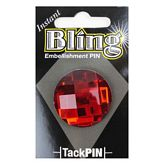 Bling Small Red Round