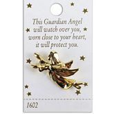 Flying Gold Angel Pin