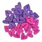 Wood Hearts Purple/Pink