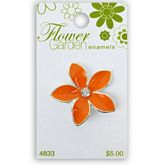 Orange Flower with Crystal