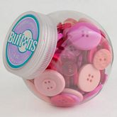 Button Jars Pink