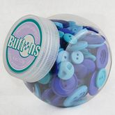 Button Jars Blue