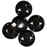 Gems Large Black Rounds