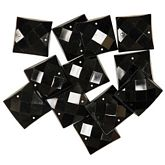 Gems Large Black Squares