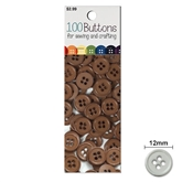 100 Buttons Brown