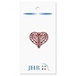 "Lacy Heart Charm Red 1"" (25MM)"