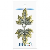 "Leaves Clasp Silver 3"" (76MM)"