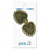 "Flower Clasp Gold 2 1/2"" (65MM)"