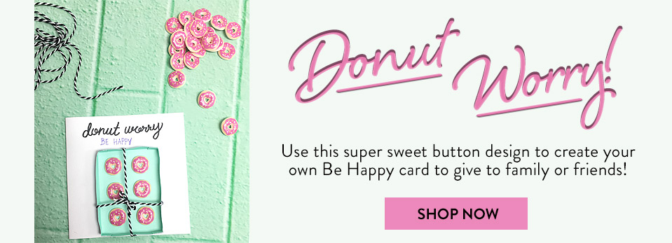 Donut Buttons - Craft buttons; Buy buttons