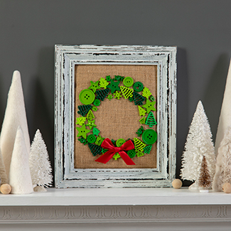 Button Wreath Picture Frame