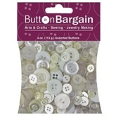 White 4 oz Bag of Buttons