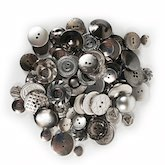 Mixed Buttons - Silver 3 oz.