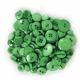 Assorted Buttons Green 3 oz.