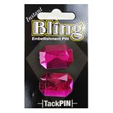 Bling Small Pink Rectangle