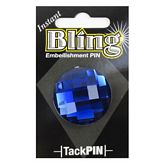 Bling Small Blue Round