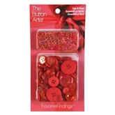 Buttons & Beads Red