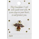 Gold Angel Pin with Silver Halo