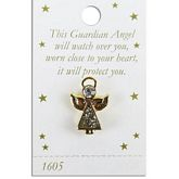 Gold Angel Pin with Crystal Body