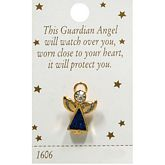 Gold Angel Pin with Blue Body