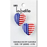 "Flag Heart 7/8"" (22MM)"