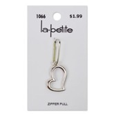 Silver Heart Zipper Pill