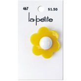 "Yellow Flower 1 1/8"" (28MM)"