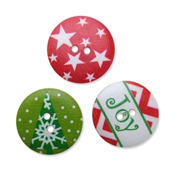 Holiday Wood Buttons