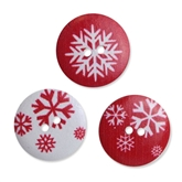 Red Snow Wood Buttons