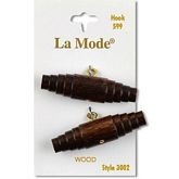 "Brown Wood Toggle  1 3/4"" (44MM)"