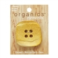 "Yellow Squarish 2"" (50MM) - 3 Packages of 1 Button"