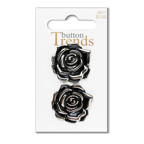 Rose Patterned Pearl Shank Buttons