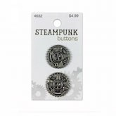 Steampunk Antique Silver Gears 7/8 Inch