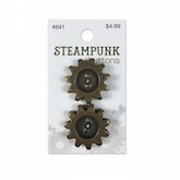 Antique Gold Gears 1 inch