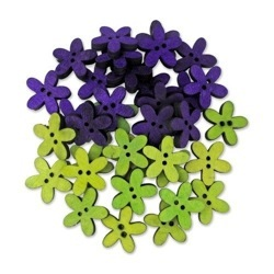 Wood Flowers Purple/Lime