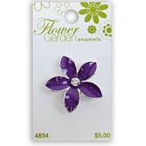 Purple Flower with Crystal
