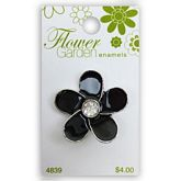 Black Daisy with Crystal