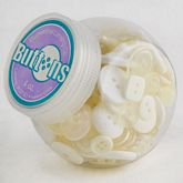 Button Jars White