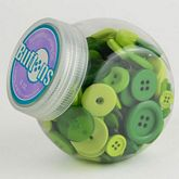 Button Jars Green