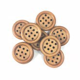 9 Hole Wood Button Small