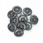 Steampunk Compass - Antique Silver