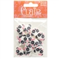 "Panda Face 1"" (25MM) - 3 Packages of 18 Buttons"