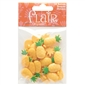 "Pineapple 1"" (25MM) - 3 Packages of 18 Buttons"