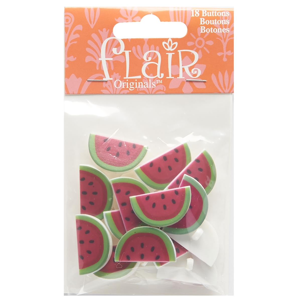 18 per pkg ~ Sewing ~ Craft Shelly/'s Buttons WATERMELON BUTTONS