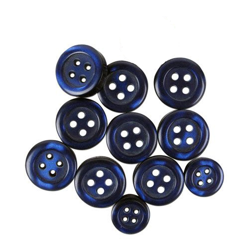 Navy Shirt Buttons Mix - 3 Packages