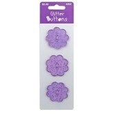 Purple Glitter Flowers