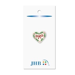 "Holiday Heart White 7/8"" (22MM) -  3 Packages"