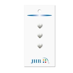 "Mini Hearts White 1/4"" (7MM) -  3 Packages"