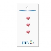"Mini Hearts Pink 1/4"" (7MM) -  3 Packages"